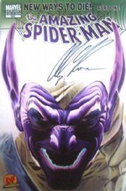 Amazing Spider-man #568 Dynamic Forces Green Goblin Variant  Signed Alex Ross DF Marvel comic book